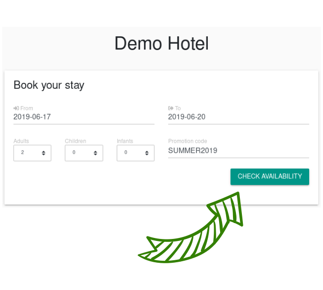 One-click room availability check in browser screenshot